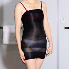 Lady Sexy Tube Top Dress Ultrathin Bodystockings Transparent Bodyhose Underwear