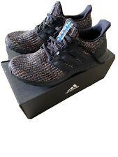 Men's Adidas Ultra Boost Running Shoes Black / Green Multicolor Sz 8.5 G54001