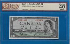1954 - $1.00 DEVILS FACE GRADED BY BCS EF-40