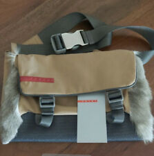 Aut Prada New nylon shearling fur belt bag