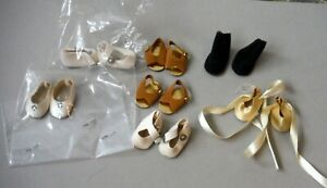 """Vintage Lot 8 Pair Small Size Doll Shoes NOS Mint Condition 1 1/8"""" x 5/8"""" P887"""