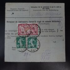 COLIS (PACCHI) POSTALI NEWSLETTER D'SPEDIZIONE ALSACE LORRAINE RIXHEIM CAD 1926