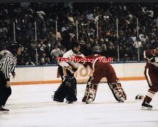 Curtis JOSEPH vs CHEVELDAE Red WINGS Blues 11X14 FAMOUS Center ICE Fight L@@K !!