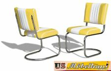co-27 JAUNE BEL AIR Meuble 2 chaises swingstuhl dîner de cuisine usa