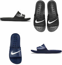 5adec15ad250b NIKE FLIP FLOPS Mens Womens Kawa Slides Beach Pool Sandals Slippers Black  Navy
