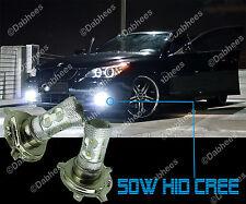 H4 Xenon Bianco Alta Potenza HID CREE LED 50W DRL FENDINEBBIA AUTO LUCE LAMPADINE A LED (coppia)