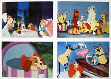 "4 Disney Store Lithographs: LADY AND THE TRAMP 2012 10"" X 14"" Lithos & Portfolio"