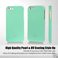for iPhone 5/5s & SE Genuine Mercury Goospery MINT Green Soft Jelly Case Cover