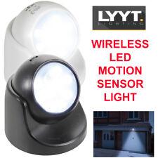 Portable LED Bright PIR Security Flood Light Wall Mount Battery Powered LLYT