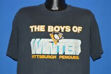 vintage 90s PITTSBURGH PENGUINS BOYS OF WINTER NHL BLACK ICE t-shirt HOCKEY XL