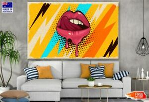 Colorful  Lips Pop Art Design Canvas Collection Home Decor Wall Print Art