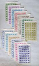 Romania - 1968 - Scott #'s 1975-1979, 1981-1988 - 13 Complete sheets - CTO