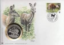 Numisbrief WWF 2004 Afghanes - Moschus Chrysogaster / Muskushert (009)