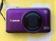 Canon PowerShot SX220 HS 12.1 MP Digitalkamera + 4GB + Etui - Violet