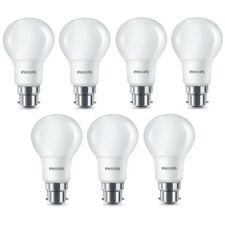 7x Philips LED Frosted B22 60w Warm White Bayonet Cap Light Bulbs Lamp 806 Lm