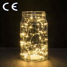 30 LED300cm Alambre Cobre Luz LED Lámpara Cadena Hadas Batería Decoración Fiesta