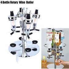 4 Bottle Bar Beverage Liquor Dispenser Alcohol Drink Shot Cabinet Wall Mounted