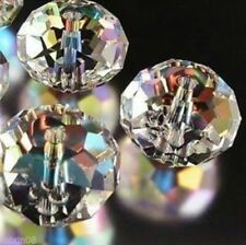 3*4mm White with color AB Crystal Faceted Gems Loose Beads 1000pcs