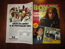 BOY MUSIC N° 45 NOVEMBRE 1982 CON GIANNA NANNINI FABIO CONCATO KATE BUSH