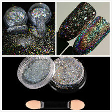 Galaxy HOLO LASER EFFECT Pigment NAIL ART POWDER DUST IRIDESCENCE Trend Glimmer