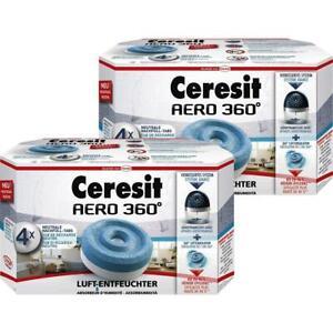 Henkel Ceresit Luft-Entfeuchter-Tabs AERO 360 Nachfüller 4x450g Tab (2er Pack)