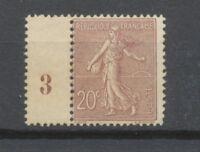 FRANCE N°131 20c brun-lilas NEUF LUXE ** Signé CALVES COTE 190€ P1952