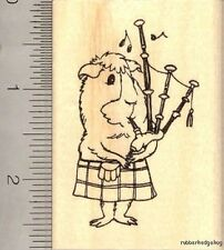 Guinea Pig playing bagpipes Rubber Stamp J12801