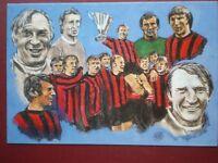 POSTCARD SPORT FOOTBALL - 1970 MANCHESTER CITY TEAM AFTER WINNING EUROPEAN CUP W
