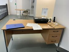 office desk with Fixed drawers & Chair used