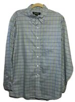 BROOKS BROTHERS COUNTRY CLUB Men's Large Plaid Supima Cotton L/Sleeve Shirt