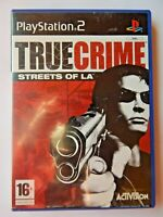 True Crime: Streets of LA (Sony PlayStation 2, 2003, PAL, PS2, Game, Manual)
