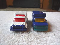 "Lot Of 2 Matchbox Cars,1,1998 Chevy Transport Bus,1,2002 Ambulance "" GREAT COLLE"