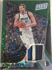 Dirk Nowitzki 22/25 2018 Panini National Gold Pack Patch Green Prizm Refractor