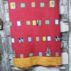 Vintage Looney Tunes Twin Flat Bed Sheet Vianney Bugs Bunny Daffy Tweety