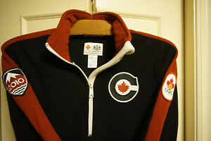 corduroy track jacket Team Canada Olympics Vancouver 2010 HBC jersey pullover