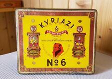 Alte Blechdose * KYRIAZI No. 6 * Zigarettendose 50 Cigaretten old cigarette tin