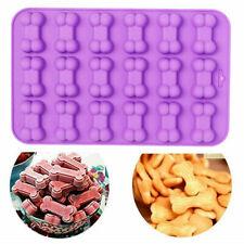 18 Bone Silicone Base Chocolate Cookie Mould Baking Ice Cube Jelly Cake Cat Dog