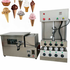 2.6KW Pizza Cone Forming Making Maker Machine w/ Rotational Pizza Oven Cooking