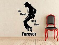 Michael Jackson Wall Decal King Of Pop Music Vinyl Sticker Decor Mural (168s)