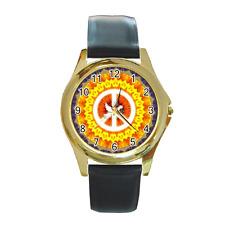 Reloj De Pulsera estilo hippy signo de la Paz Redondo ** excelente artículo ***