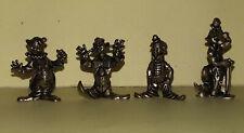 KINDER 4 CLOWN in  Metallo cm. 2,5 / 3,5 - Soldier Figure