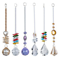 US Set 6 Rainbow Maker Crystal Suncatcher Chandelier Prism Pendulum Pendant Gift