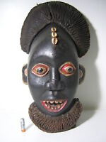 a fine BAMUN mask CAMEROON **** AFRICANTIC FRANCE AFRICAN TRIBAL PRIMITIVE ART