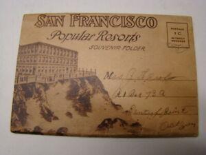 1920's San Francisco Popular Resorts Souvenir Fold-Out Postcard Sutro Baths