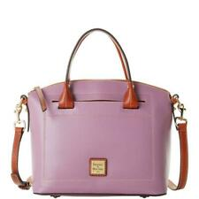 🌸NWT Dooney and Bourke Claremont Leather Dome Large Satchel Bag Mauve New $298