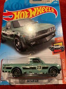 2018 HOT WHEELS / Datsun 620 (Green) -on long card 9/365 Hot Trucks 4/10 !!!!!!!