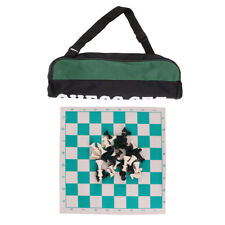 Tournament Chess Set Portable Travelling Plastic Chess Pieces Roll Up Board
