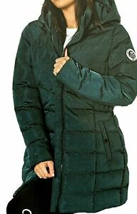 New Womens Crosshatch Jesse Puffer Jacket Coat Khaki Sz UK 10 (B1)