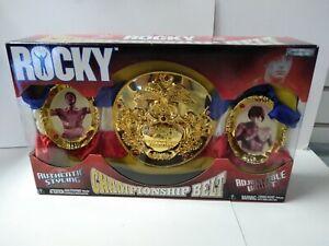 Rocky Championship Belt 2006 JAKKS Balboa Apollo Creed Boxing World Heavyweight