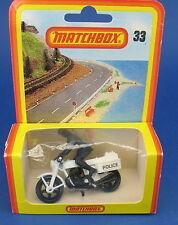 MATCHBOX No 33 - Motorrad - Police Motorcycle - NEU in Blister-OVP - new in BOX
